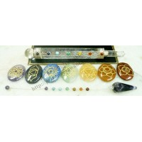 7 Chakra Point Crystal Stone Set Type -2