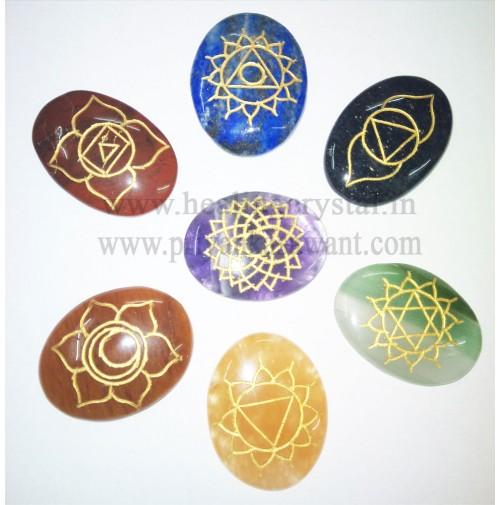 7 Chakra Point Crystal Stone Set Type - 1