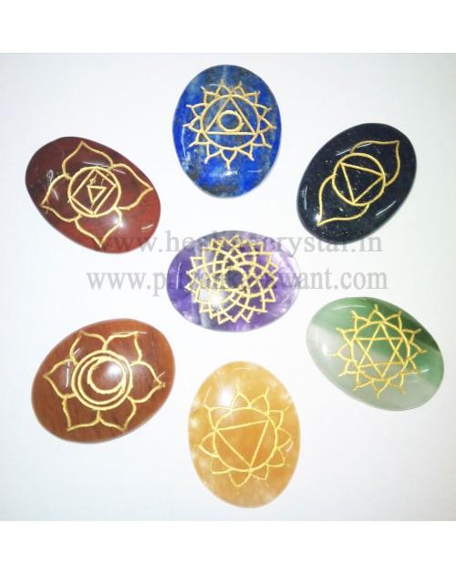 7 Chakra Point Crystal Stone Set Type 1