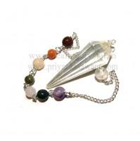 7 Chakra Crystal Pendulum (Clear Quartz) - Type 2