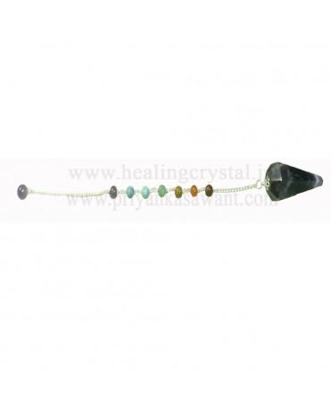 7 Chakra Crystal Pendulum (Amethyst) - Type 1