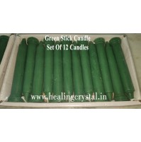 Green Stick Candle Set Of 12