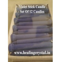 Violet Stick Candle Set Of 12