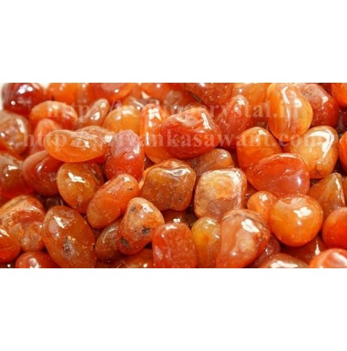 Carnelian Crystal Tumbled Stones 1 Kg Bag