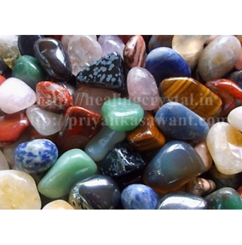 Mix Crystal Tumbled Stones 1 Kg Bag