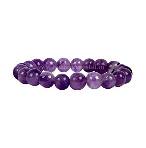 Amethyst Crystal Faceted Beads Bracelet Type  - 1