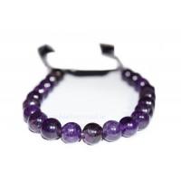 Amethyst Crystal Shamballa Bracelet Type - 2