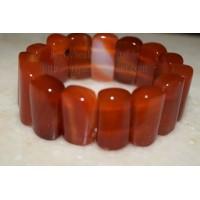 Carnelian Broad Crystal Bracelet Type - 2