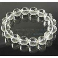 Clear Quartz Faceted Beads Crystal Bracelet Type - 1
