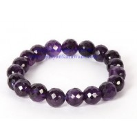 Amethyst Crystal Faceted Bracelet Type  - 1