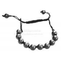 Hematite Shamballa Bracelet Type - 1