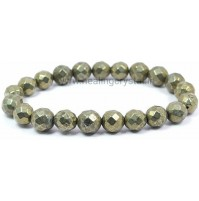 Pyrite Faceted Bead Bracelet Type - 2
