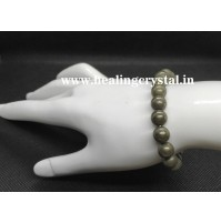 Pyrite Plain Bead Bracelet Type - 1