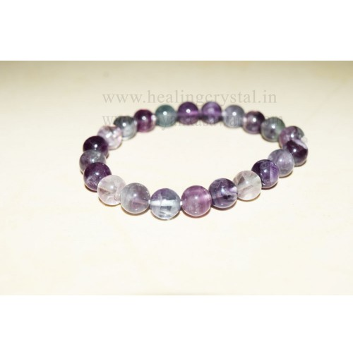 Rainbow Fluorite Crystal Bracelet Type - 2