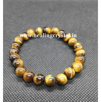 Tiger Eye Beads Crystal Bracelet Type -1