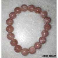 Sunstone Crystal Beads Bracelet 10 mm