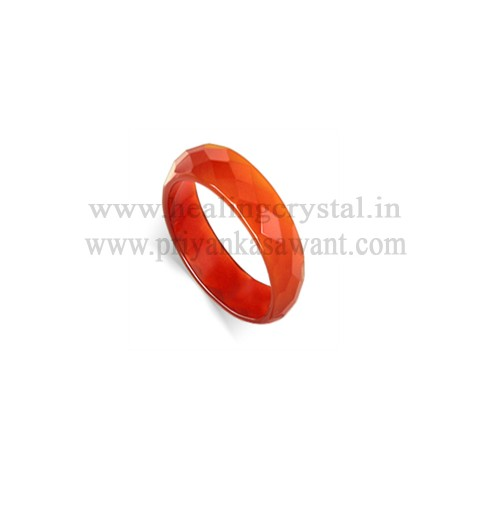 Gemstone - Carnelian Crystal Band Ring