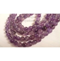 Mala Amethyst Crystal Amulet Necklace Gift