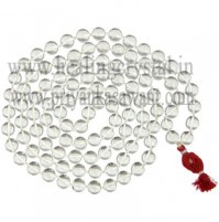 Mala Clear Quartz Round Beads Crystal
