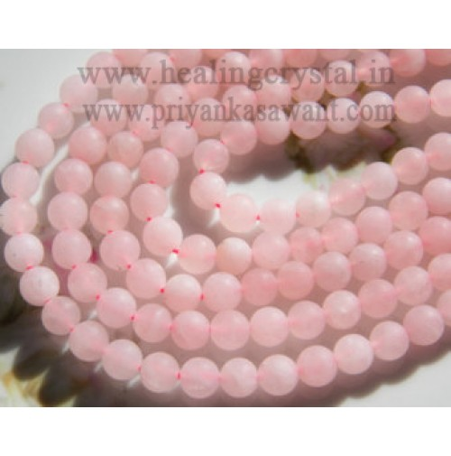 Mala Rose Quartz Round Crystal Type - 1
