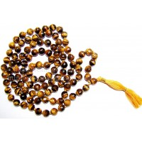 Mala Tiger Eye Faceted Crystal Type - 2