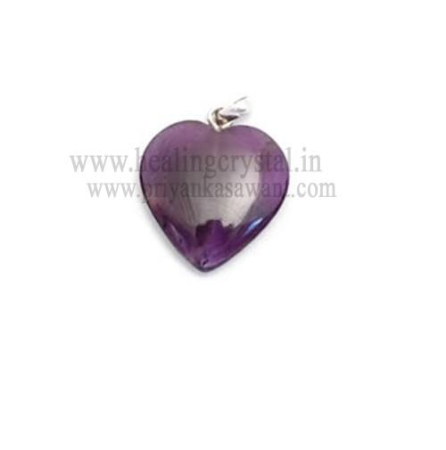 Amethyst (Heart Shape) Crystal Pendant Type - 1
