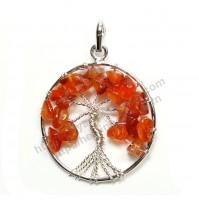 Carnelian (Tree) Crystal Pendant Type - 2