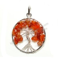 Carnelian (Tree) Crystal Pendant Type - 2