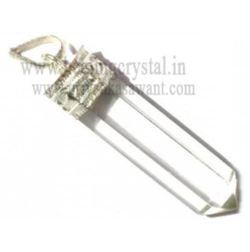 Clear Quartz (Pencil) Crystal Pendant Type - 1