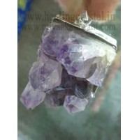 Amethyst (Druzy) Crystal Pendant Type - 4