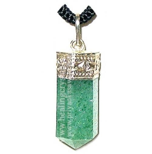 Green Aventurine (Pencil) Crystal Pendant Type - 1