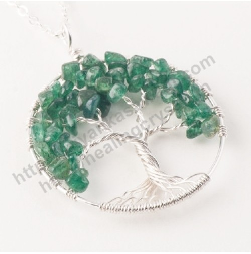 Green Aventurine (Tree) Crystal Pendant Type - 2