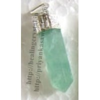 Green Fluorite (Pencil) Crystal Pendant Type - 2