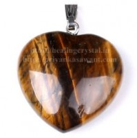 Tiger Eye (Heart Shape) Crystal Pendant Type - 1