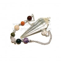Pendulum - Clear Quartz Crystal With 7 Chakra - Type 2