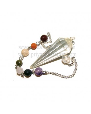 Pendulum - Clear Quartz Crystal With 7 Chakra