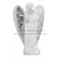 Angel Statue - (Clear Quarts) Crystal Stone