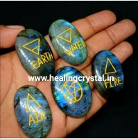 Five Element Labradorite Crystal Stone Set Type - 1