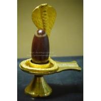 Narmada Bana Shiva Lingam (Full Set-Naag + Yoni + Bana Crystal Stone) Type -1