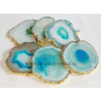 Coasters Agate Crystal Stone Set Of 5