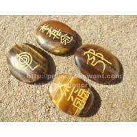 Reiki Symbols Carved on Crystal  (Set of 4)
