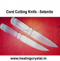 Cord Cutting Crystal Knife - Selenite, Tiger Eye etc