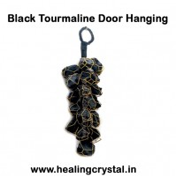 Door Hanging Of Raw Black Tourmaline Stone