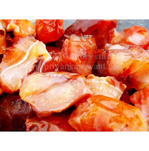 Raw Carnelian Crystal Small Piece Of 2kg Bag