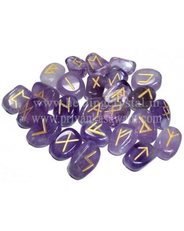 Rune Amethyst Crystal (25 Stone Set)