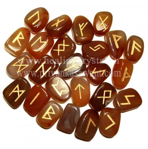 Rune Carnelian Crystal (25 Stone Set)