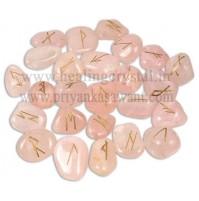 Rune Rose Quartz Crystal (25 Stone Set)