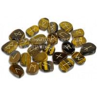 Rune Tiger Eye Crystal (25 Stone Set)