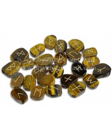 Rune Tiger Eye Crystal (25 Stone Set)